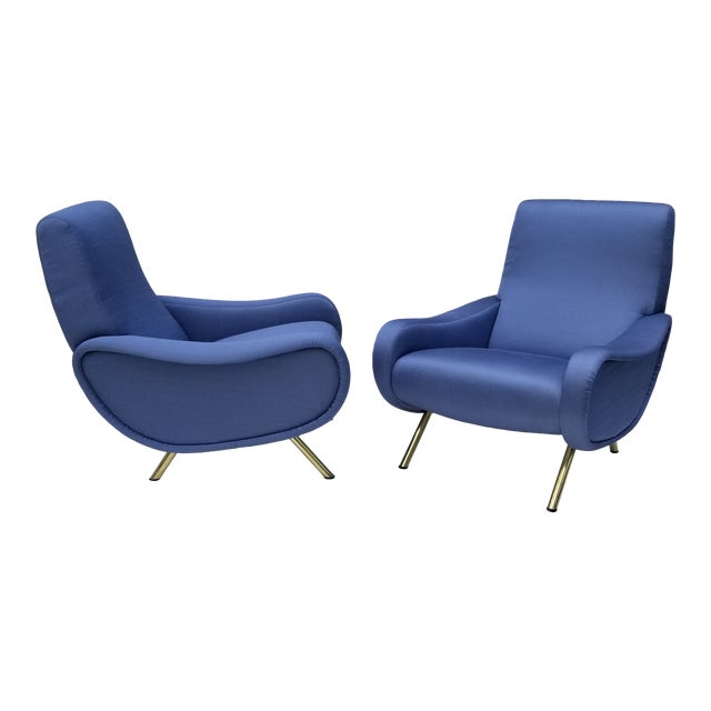 Marco Zanuso Lady Chair- A Pair For Sale