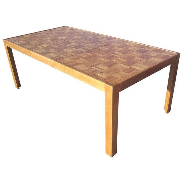 Parquet-Top Parsons Table - Image 1 of 6