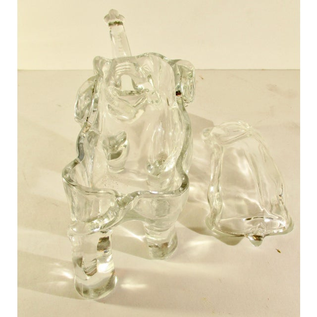 Elephant Shaped Decorative Jar For Sale In New York - Image 6 of 7