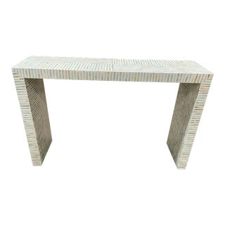 Mother of Pearl Modern Transitional Console Table For Sale