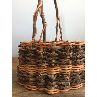 Early 20th Century Antique French Gathering Basket Preview