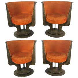 Image of Bronze Club Chairs