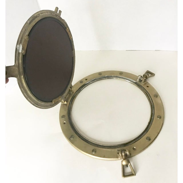 Brass Nautical Porthole Mirror - Image 3 of 4