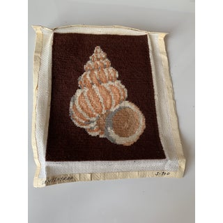 Needlepoint Shell Completed Canvas Preview