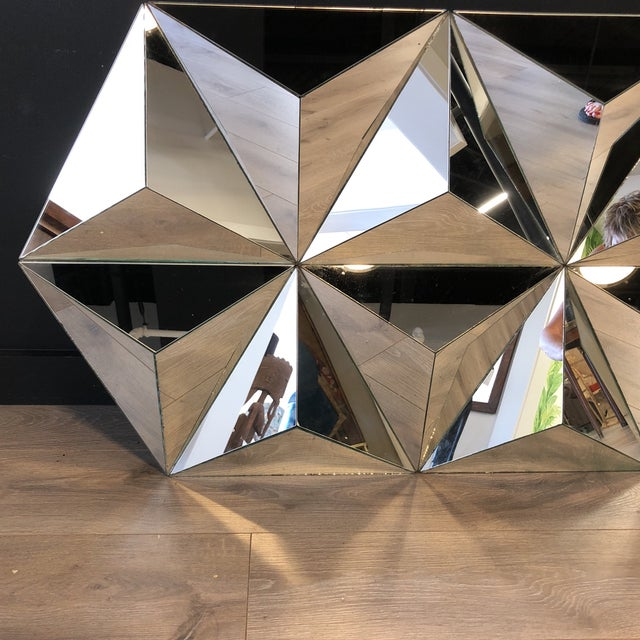 Multi Faceted Pyramid Mirror For Sale - Image 4 of 5