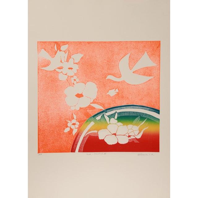 Rustic Mireille Kramer, Birds, Rainbow V, Aquatint Etching For Sale - Image 3 of 3
