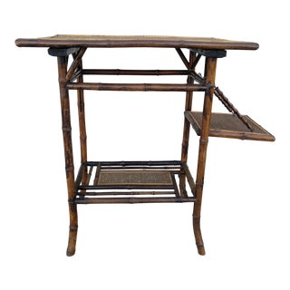 Antique English Burnt Bamboo Table