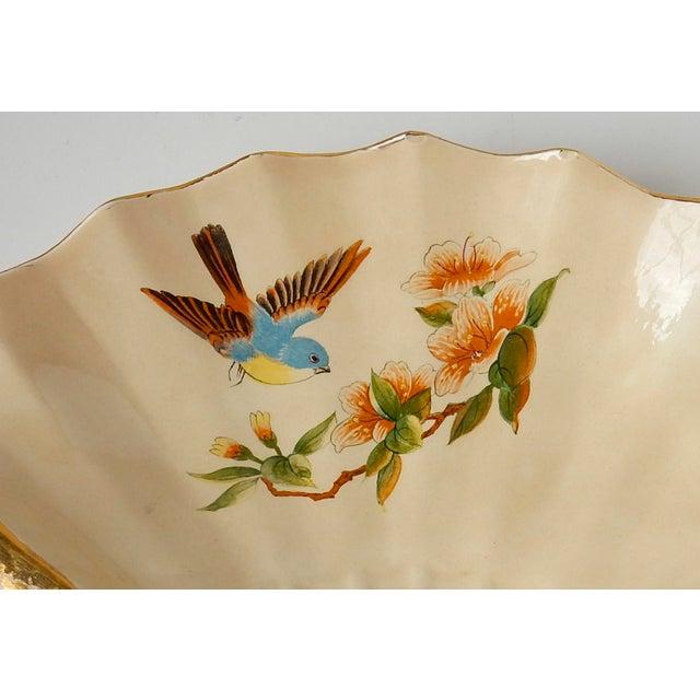 Orange Vintage Fan Shaped Plates - Set of 8 For Sale - Image 8 of 9