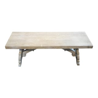 Whitewash Solid Wood Bench For Sale