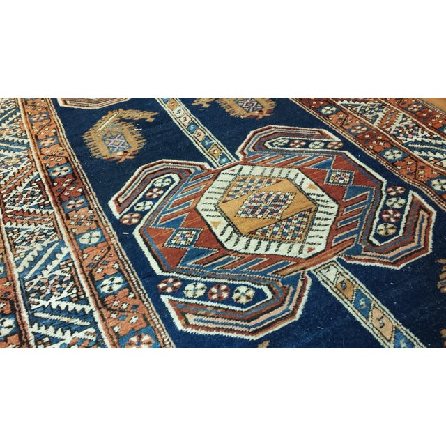 Antique Persian Heriz Hall Runner For Sale - Image 4 of 4
