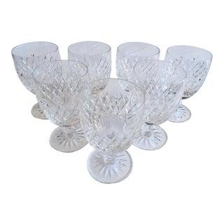 Vintage 1960's Waterford Crystal Goblets - Set of 6 For Sale