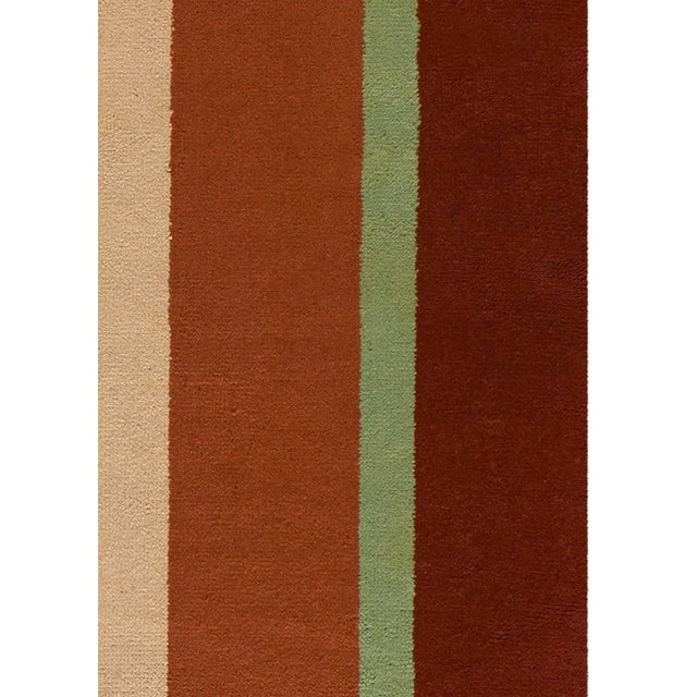 Textile Vintage Deco Rug For Sale - Image 7 of 9