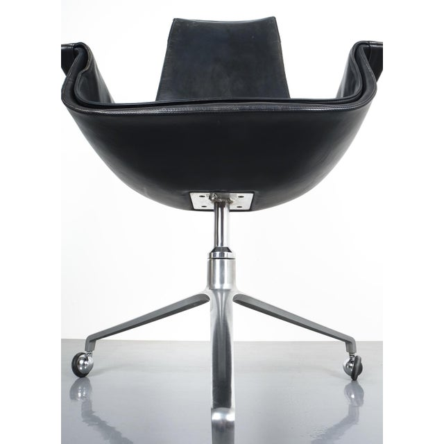 Black Blue High Back Bird Desk Chair by Fabricius and Kastholm Fk 6725, 1964 For Sale - Image 11 of 12