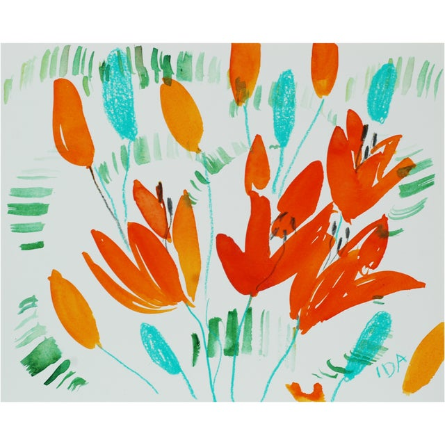 Orange & Turquoise Lilies Multimedia - Image 1 of 2