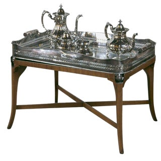 Hollywood Regency Silver Plated Four Tea Service