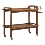 Image of French Bar Cart by Jacques Adnet For Sale