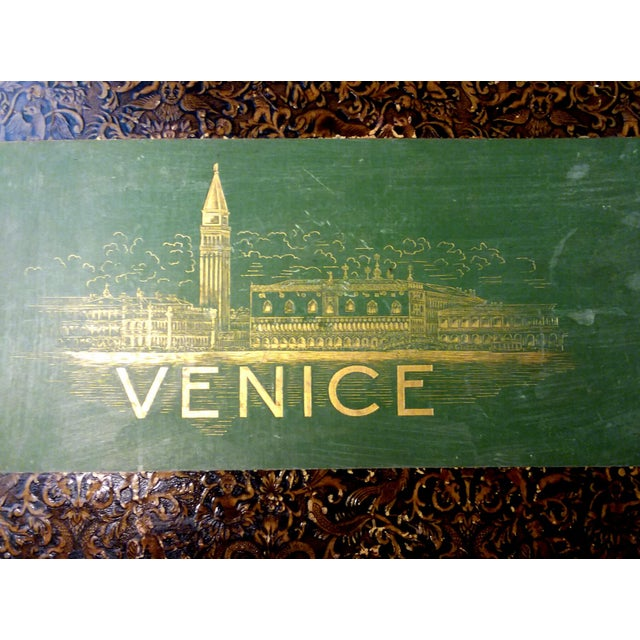 V E N I C E Inside this beautiful vintage book are a wonderful collection of colored photographs and engraving. A lovely...