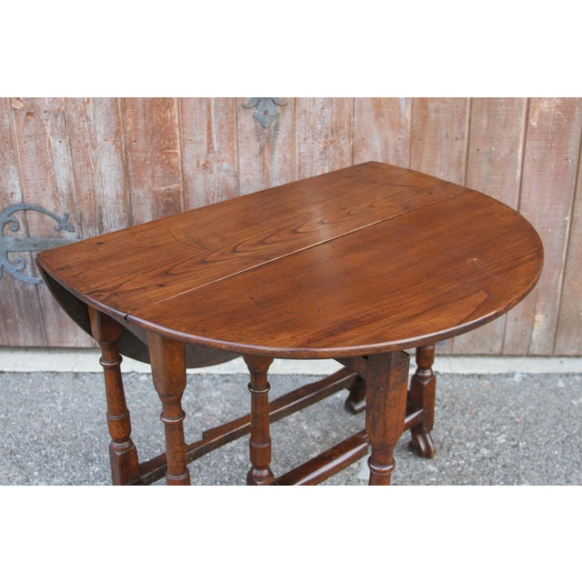 19th C. English Gateleg Console For Sale - Image 9 of 11