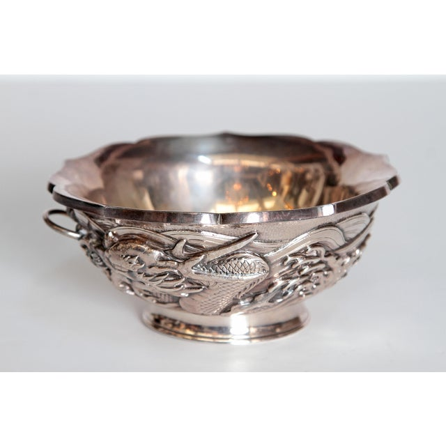 Japanese Silver Bowl For Sale - Image 4 of 13