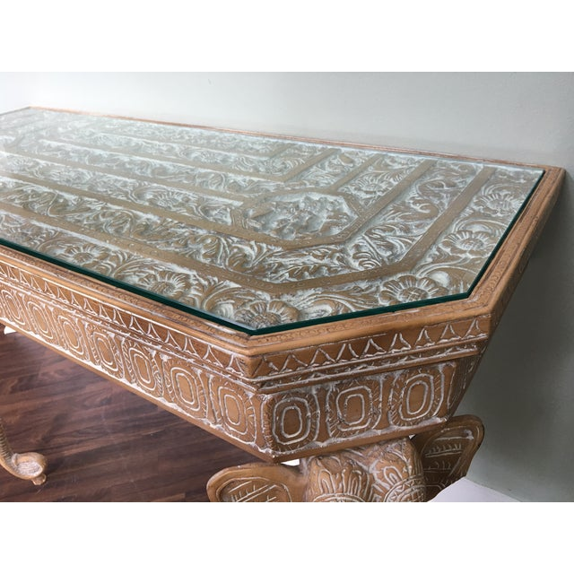 Hand-Carved Elephant Console Table - Image 9 of 11