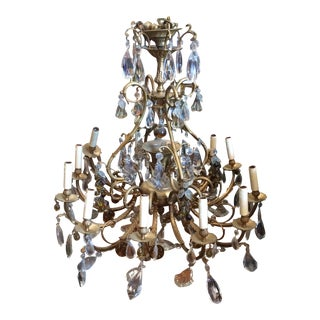 Extra large Italian chandelier with Amber Fruit Details For Sale