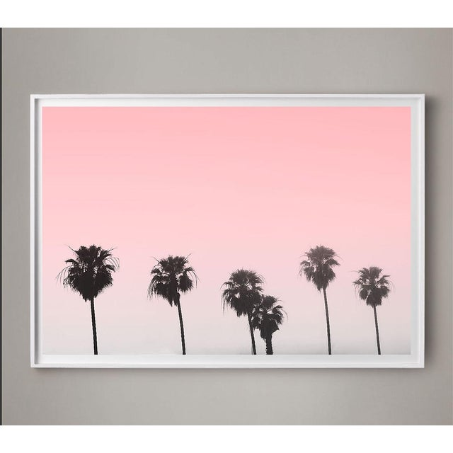 Contemporary Unframed Pink Palms Pink Sky Photo Print For Sale - Image 3 of 5