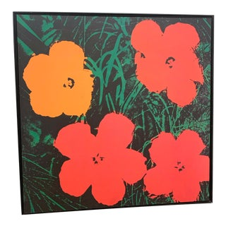 "Andy Warhol's 1964 Pop Art ""Flowers"" Framed Screen Print For Sale"