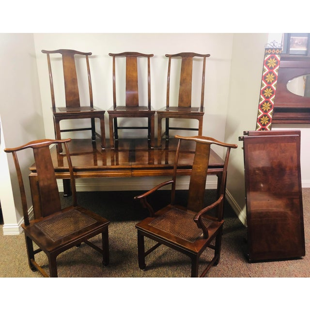 Contemporary Vintage Henredon Mahogany Dining Set - 6 Pieces For Sale - Image 3 of 10