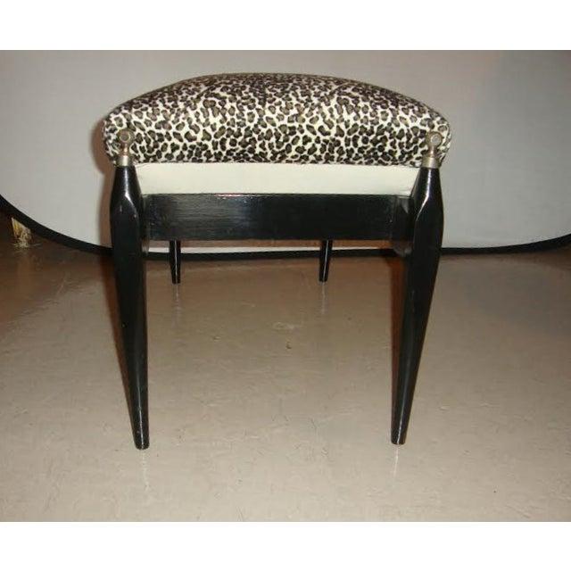 Leopard Print Upholstered Bench - Image 5 of 6