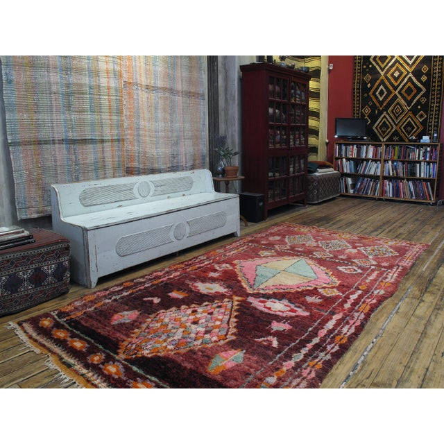 An exceptional Moroccan rug in every aspect - design, color, quality and condition. This Boujad rug is easily among our...