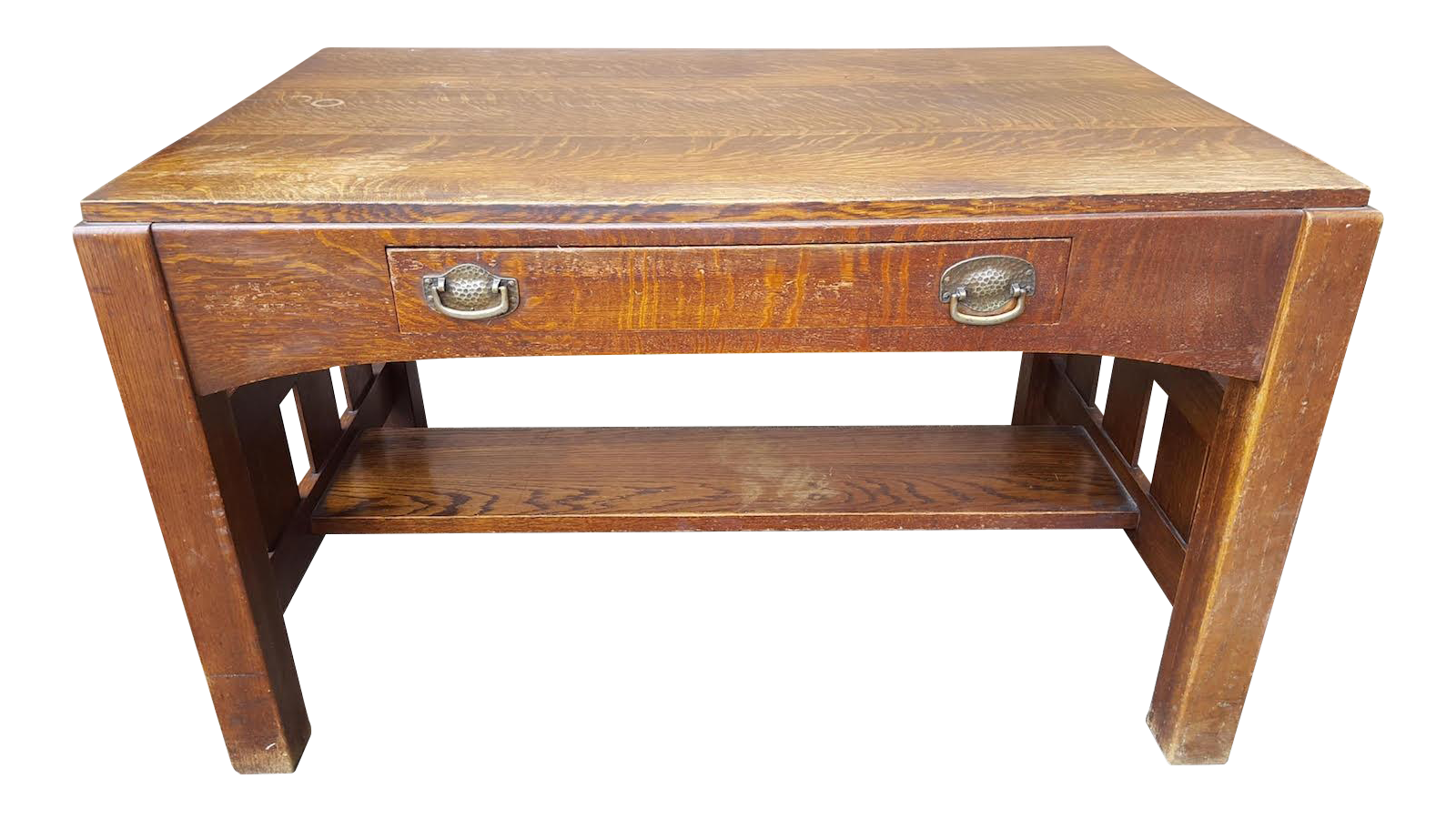 Mission Oak Arts Crafts Library Table Desk C 1900 Chairish