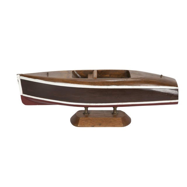 Small Wooden Cabin Cruiser Boat Model For Sale - Image 4 of 4