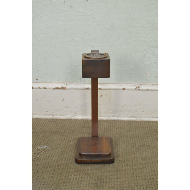 1930s Art Deco Vintage Pair of Mahogany Smoke Stands Possibly Gilbert Rhode For Sale - Image 5 of 13