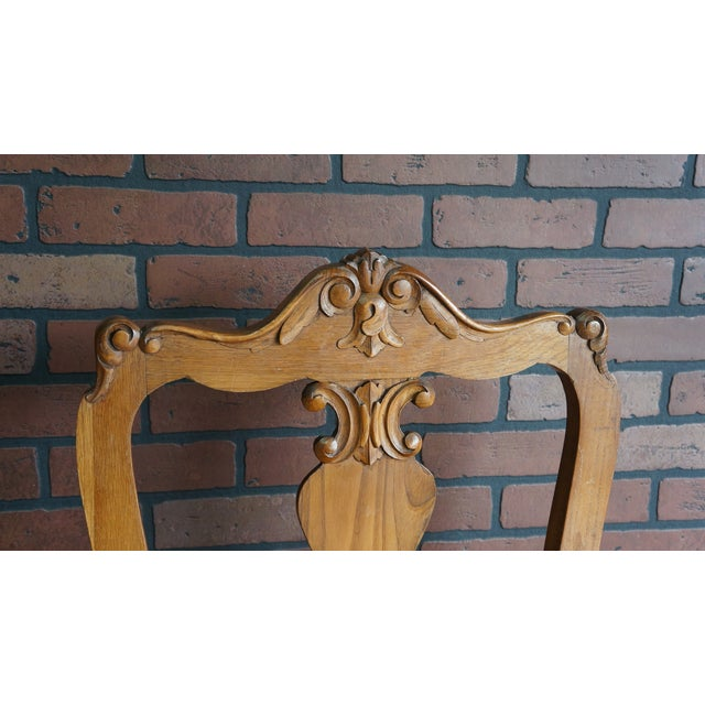 French Provincial Early 20th Century Antique French Provincial Carved Arm Chair For Sale - Image 3 of 9