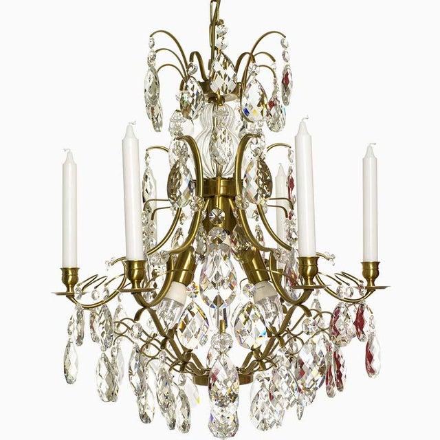 Lights Baroque Six-Light Chandelier For Sale - Image 7 of 11