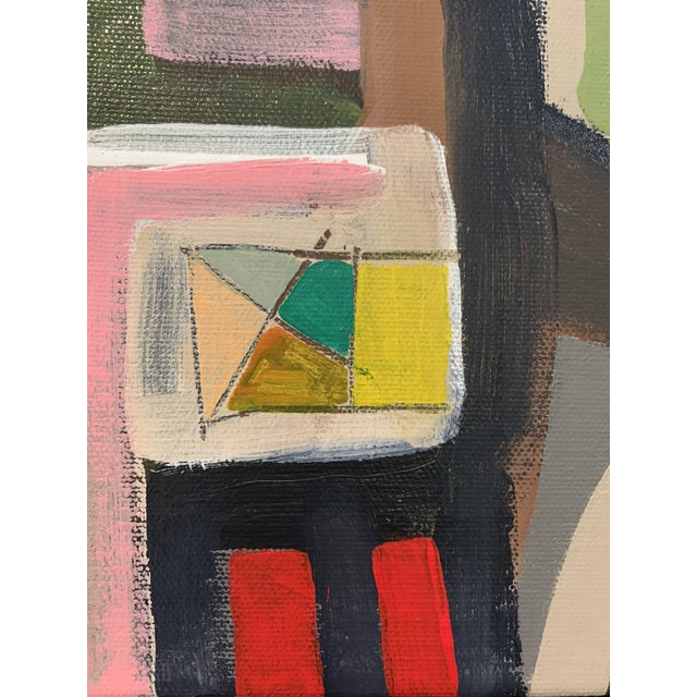 Contemporary Abstract Black Floater Framed Original Painting For Sale In Dallas - Image 6 of 9