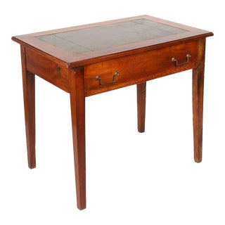 19th Century French Leather Top Walnut Writing Table For Sale