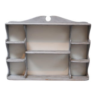 Swedish Style Painted Plate Rack