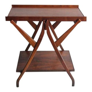 1950's Vintage Kipp Stewart for Drexel Walnut Serving Table For Sale