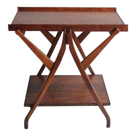 1950's Walnut Serving Table/Cart by Kipp Stewart for Drexel - Image 1 of 4