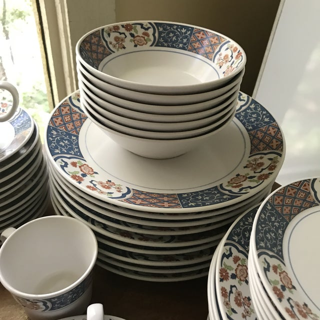 Ceramic Vintage Noritake Progression Ming Garden Dinnerware - 54 Piece Set,reduced Final For Sale - Image 7 of 11
