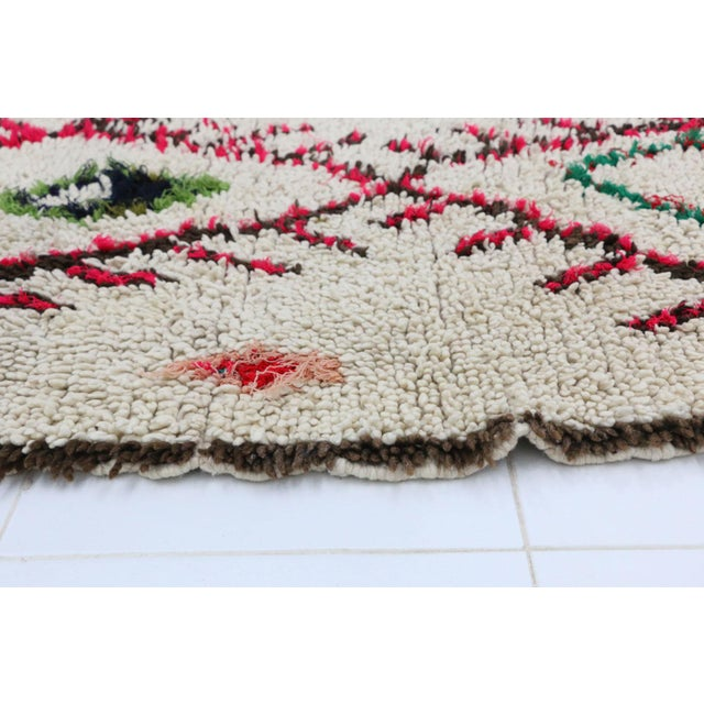 """Azilal Vintage Moroccan Rug, 2'9"""" X 6'3"""" Feet For Sale - Image 4 of 6"""