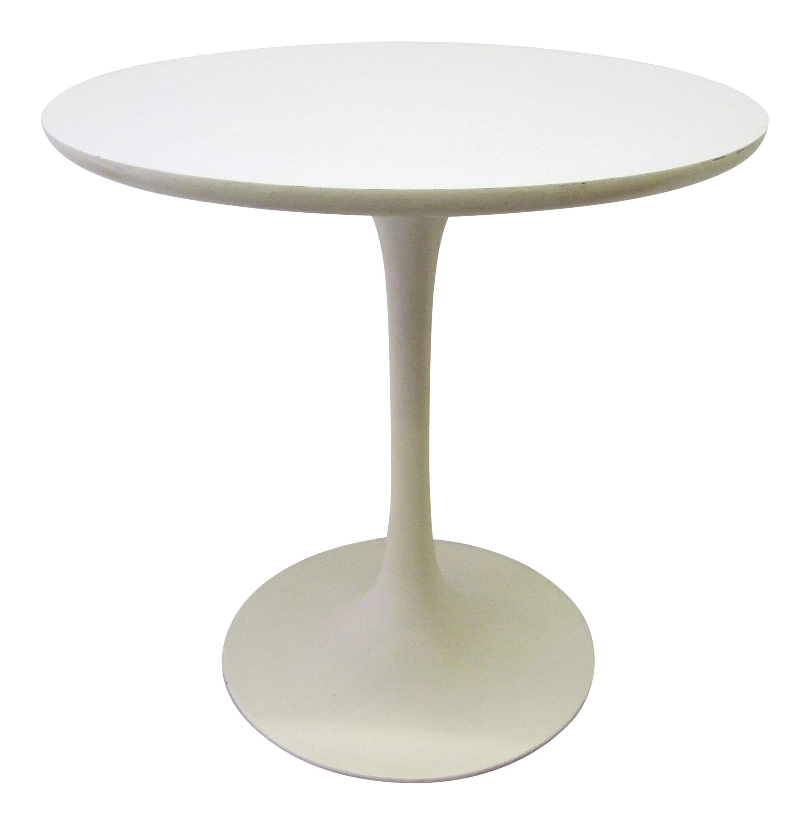 Round Tulip Side Table By Eero Saarinen With Tulip Side