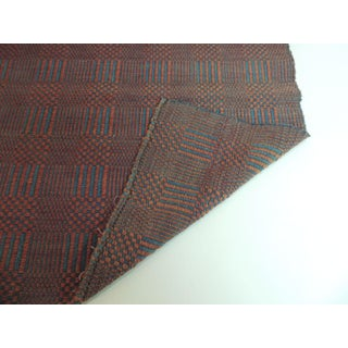 Vintage Flat-Woven Red and Blue Americana Carpet Runner Preview