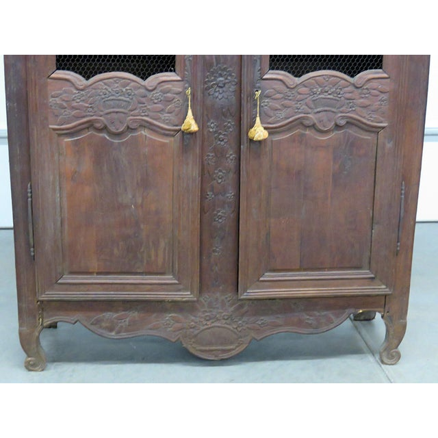 18thC French Provincial armoire with 2 doors containing 3 shelves.