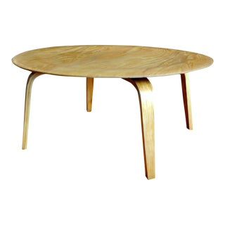 Rare Eames Herman Miller Ctw Coffee Table by Evans Products-1940's For Sale