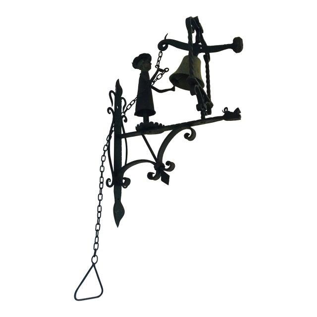 Handmade Figural Door Bell For Sale