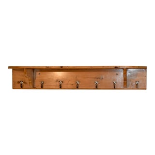19th C English Pine Shelf For Sale