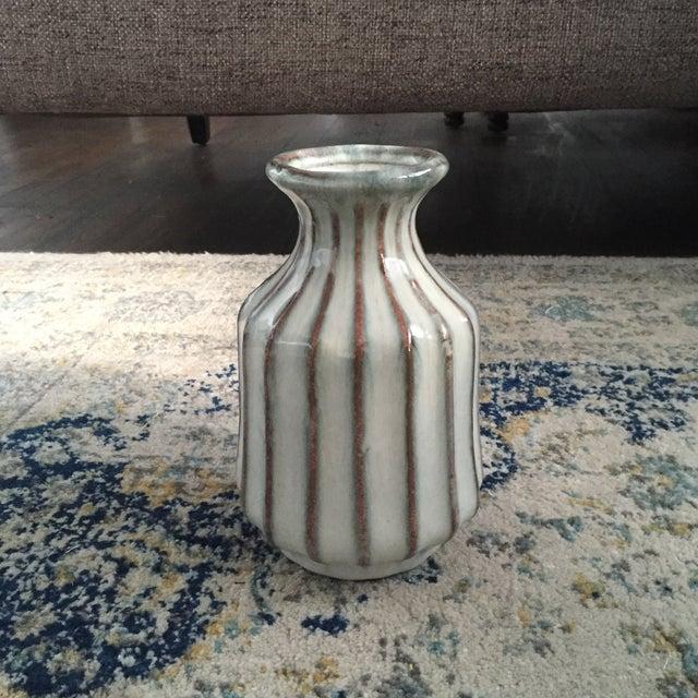 Mid-Century Modern Glazed Pottery Vase - Image 9 of 11