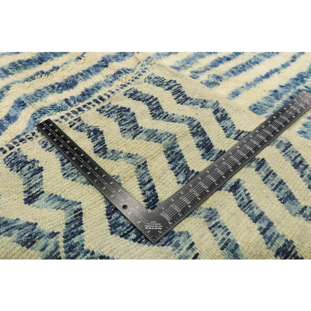 """2010s Contemporary Berber Moroccan Rug - 7'4"""" X 9'7"""" For Sale - Image 5 of 9"""